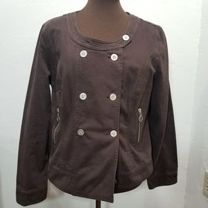 🖤Double Breasted Brown Denim Lightweight Coat